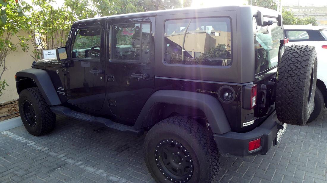 Jeep Sport Wrangler Unlimited - Carspotting - GP Abu Dhabi 2016