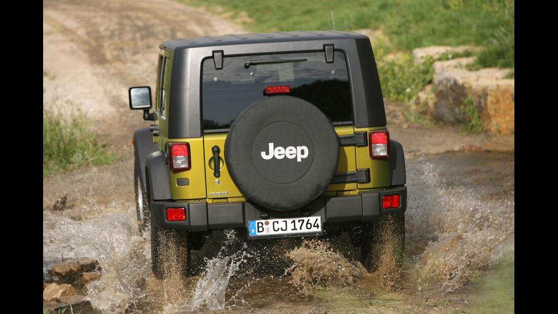Jeep Wrangler 2.8 CRD, Heckansicht