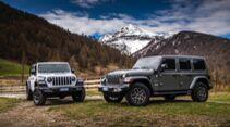 Jeep Wrangler 4Xe PHEV Europa-Version Sahara und Rubicon