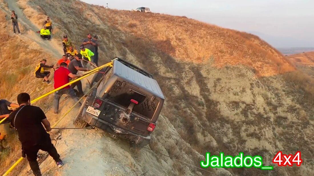 Jeep Wrangler Bergung Loma Linda Kalifornien