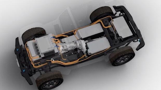 Jeep Wrangler Electric Teaser 2021