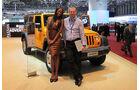Jeep Wrangler, Farida und Markus Stier auf dem Autosalon Genf 2012