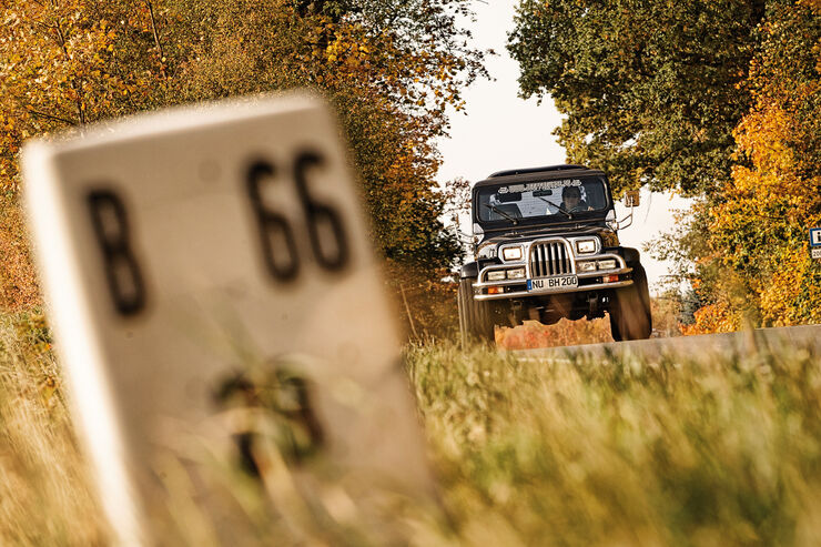 Jeep Wrangler, Frontansicht