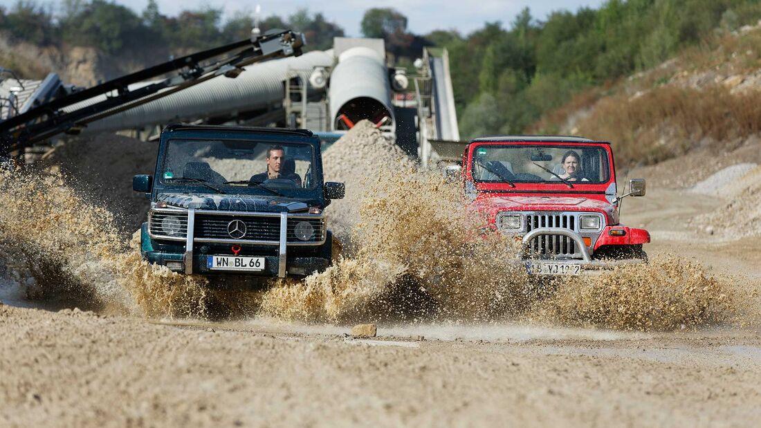 Jeep Wrangler & Mercedes G