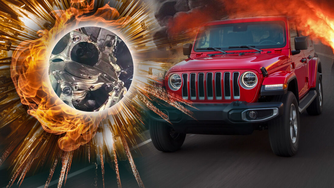 Jeep Wrangler Motor Explosion