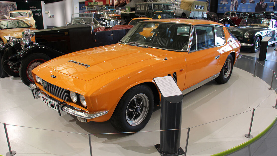 Jensen FF Series II im British Motor Museum