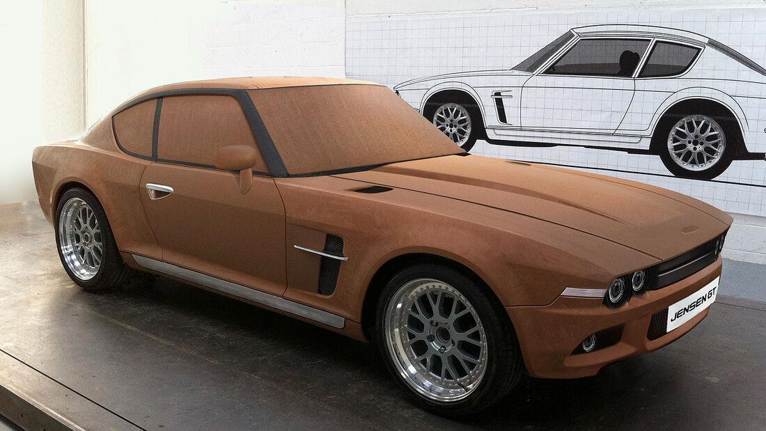 Jensen GT Clay Model Holzmodell
