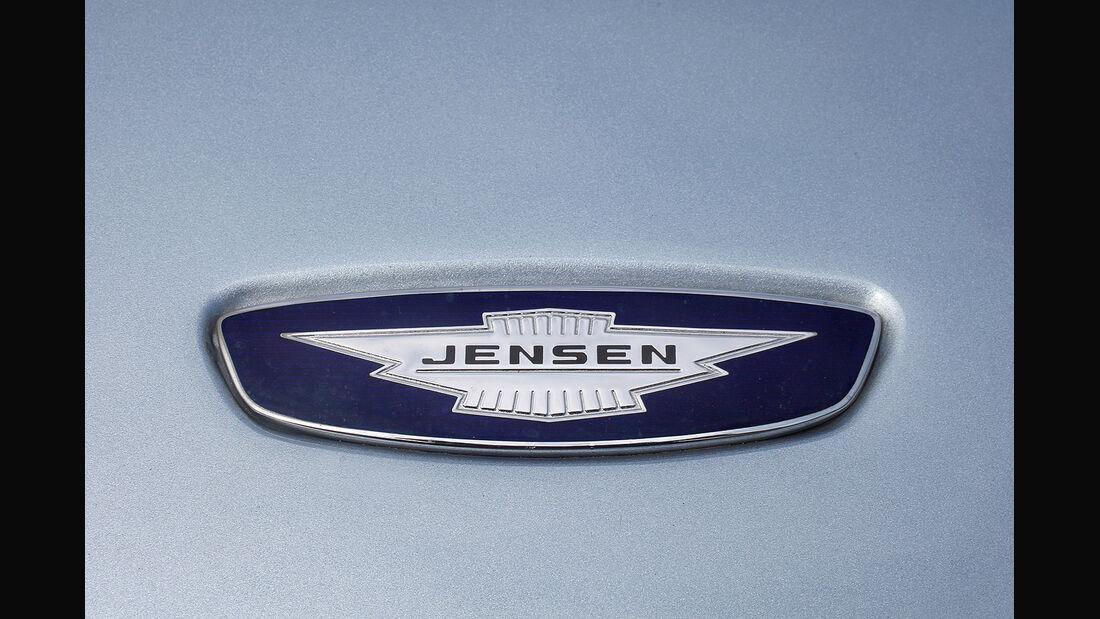 Jensen GT Clay Model Holzmodell Logo