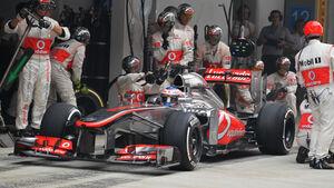 Jenson Button - Boxenstopp - Formel 1 - 2013