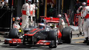 Jenson Button Boxenstopp Rekord GP Deutschland 2012