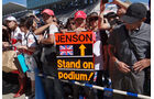 Jenson Button-Fans - Formel 1 - GP Japan - Suzuka - 4. Oktober 2012