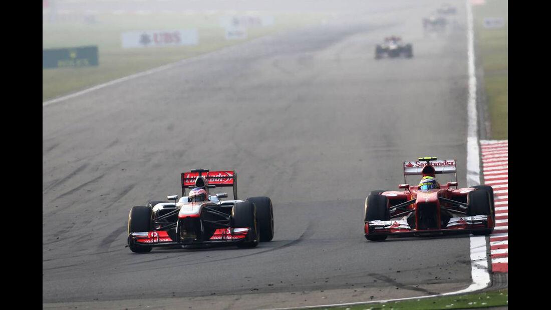 Jenson Button - Felipe Massa - Formel 1 - GP China - 14. April 2013