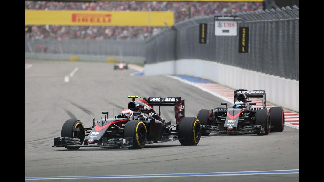 Jenson Button - Fernando Alonso - McLaren-Honda - GP Russland 2015 - Sochi - Rennen