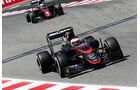 Jenson Button - Fernando Alonso - McLaren-Honda - GP Spanien - Qualifying - Samstag - 9.5.2015
