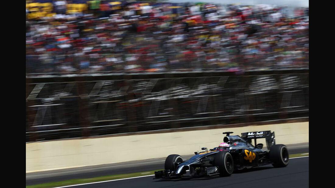 Jenson Button - Formel 1 - GP Brasilien - 9. November 2014