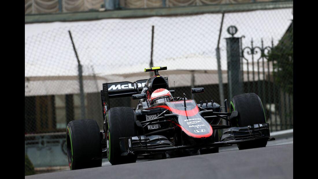 Jenson Button  - Formel 1 - GP Monaco - Donnerstag - 21. Mai 2015