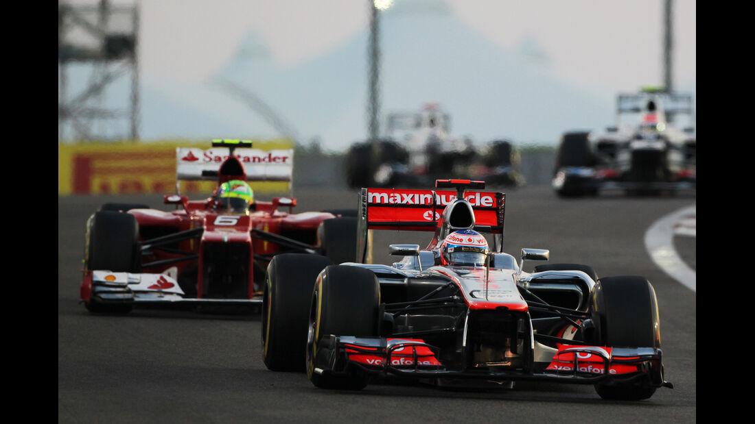 Jenson Button GP Abu Dhabi 2012