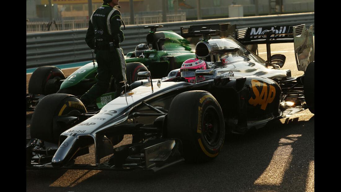 Jenson Button - GP Abu Dhabi 2014