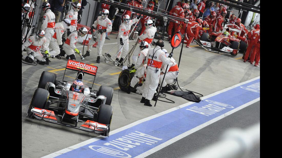 Jenson Button GP England 2011 Rennen