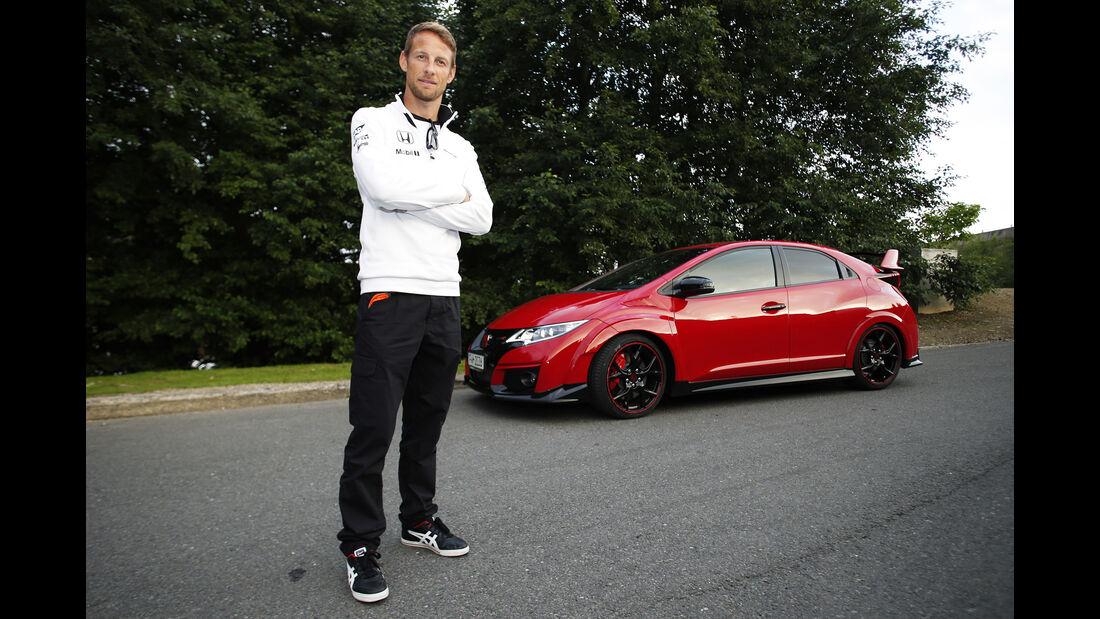 Jenson Button - Honda Civic Type-R McLaren - GP Belgien 2015