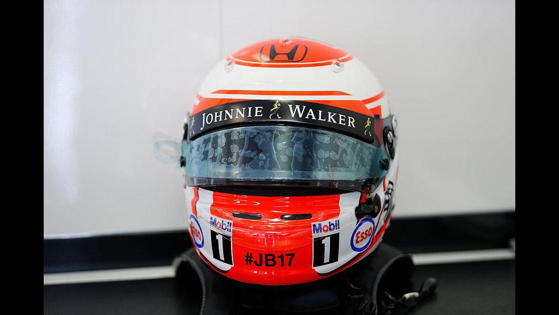 Jenson Button - Jules Bianchi-Aufkleber - GP Ungarn 2015