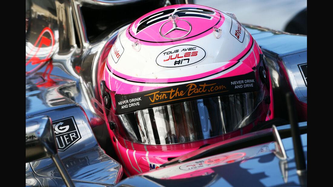 Jenson Button - Jules Bianchi-Tribute - GP Russland 2014