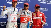 Jenson Button Lewis Hamilton Felipe Massa - Formel 1 - GP Italien - 08. September 2012