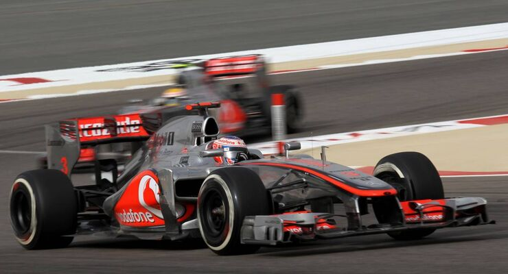 Jenson Button - Lewis Hamilton  - Formel 1 - GP Bahrain - 22. April 2012