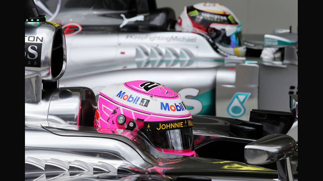 Jenson Button - Lewis Hamilton - Formel 1 - GP Brasilien - 8. November 2014