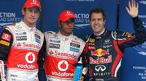 Jenson Button Lewis Hamilton Sebastian Vettel  - Formel 1 - GP Korea - 15. Oktober 2011