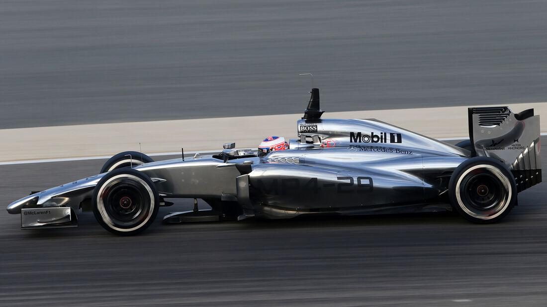 Jenson Button - McLaren - Bahrain - Formel 1 - Test - 2014
