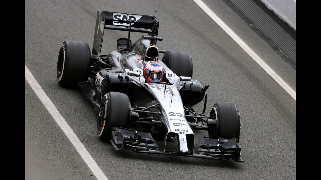 Jenson Button - McLaren - F1 Test Barcelona (1) - 13. Mai 2014