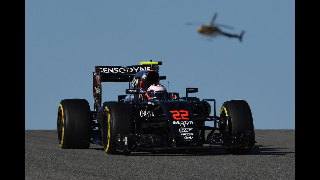 Jenson Button - McLaren - Formel 1 - Austin - GP USA - 22. Oktober 2016