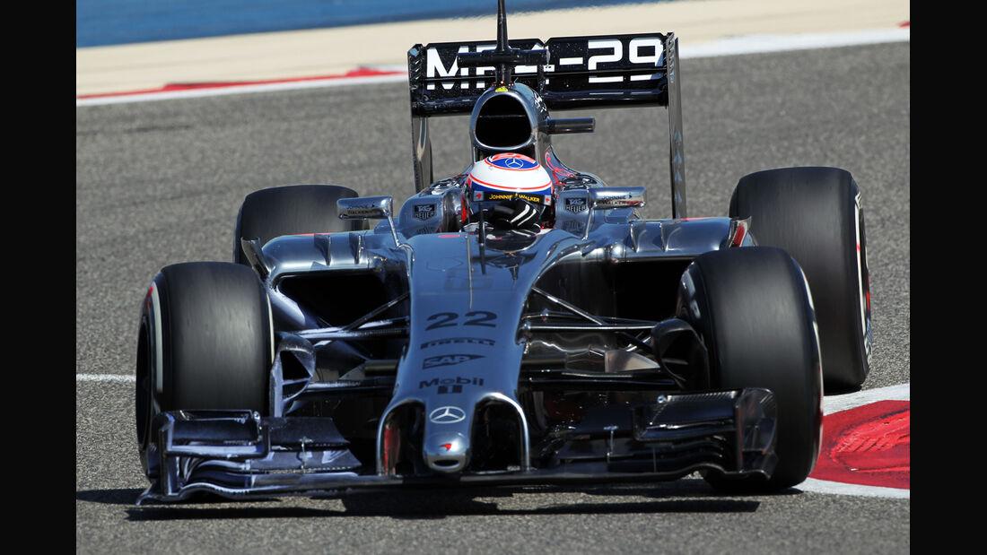 Jenson Button - McLaren - Formel 1 - Bahrain - Test - 2. März 2014