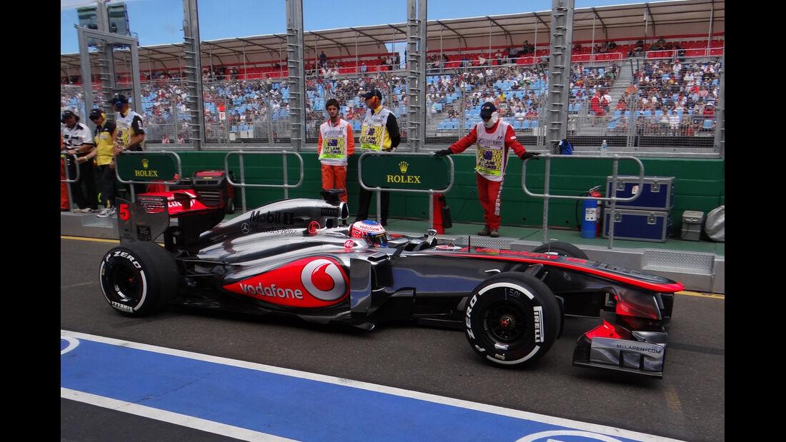 Jenson Button - McLaren - Formel 1 - GP Australien - 15. März 2013