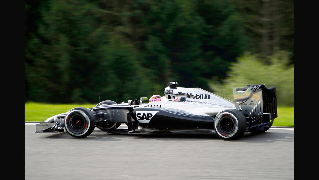 Jenson Button - McLaren - Formel 1 - GP Belgien - Spa-Francorchamps - 22. August 2014