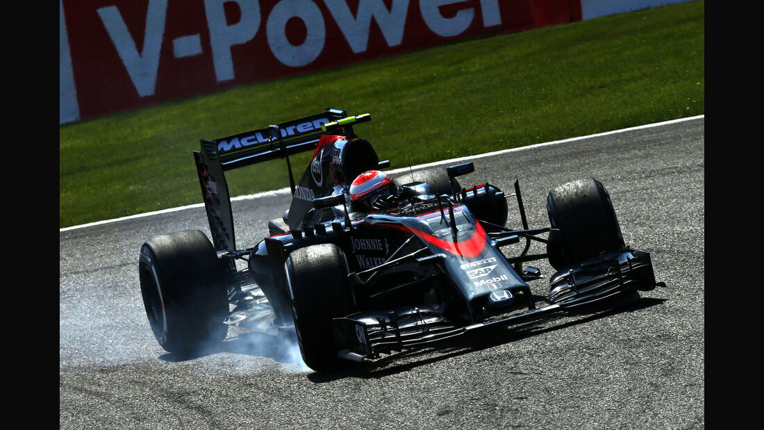 Jenson Button - McLaren - Formel 1 - GP Belgien - Spa-Francorchamps - 22. August 2015