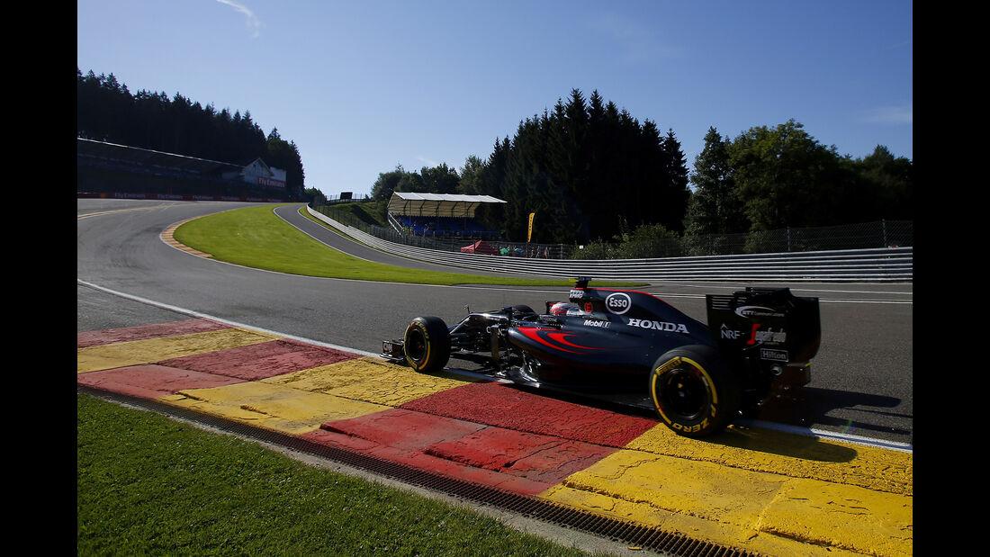 Jenson Button - McLaren - Formel 1 - GP Belgien - Spa-Francorchamps - 26. August 2016