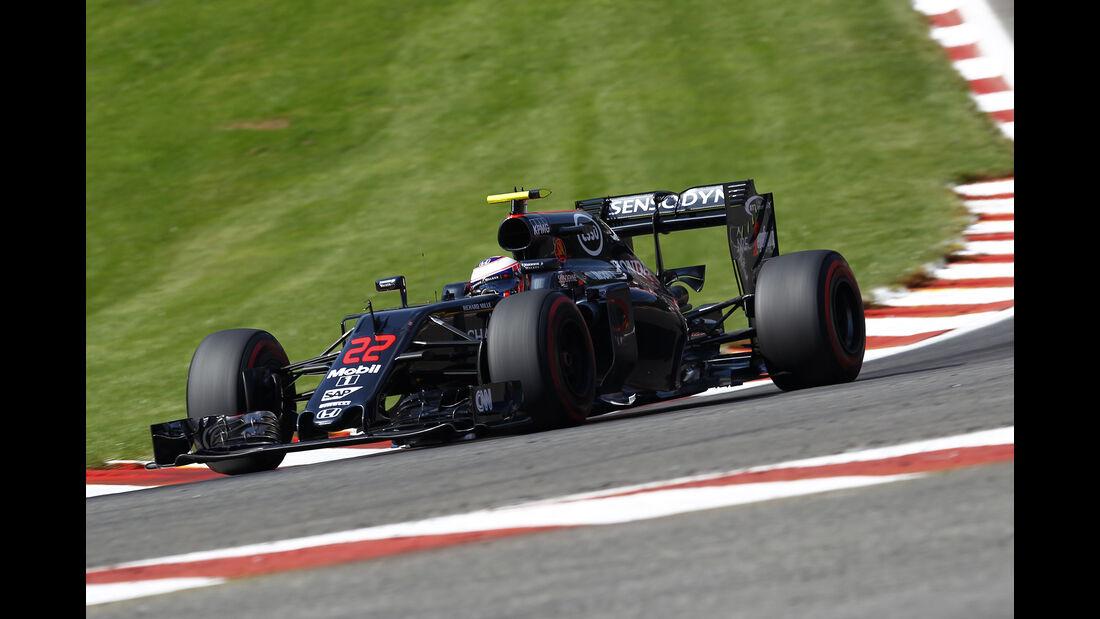 Jenson Button - McLaren - Formel 1 - GP Belgien - Spa-Francorchamps - 27. August 2016