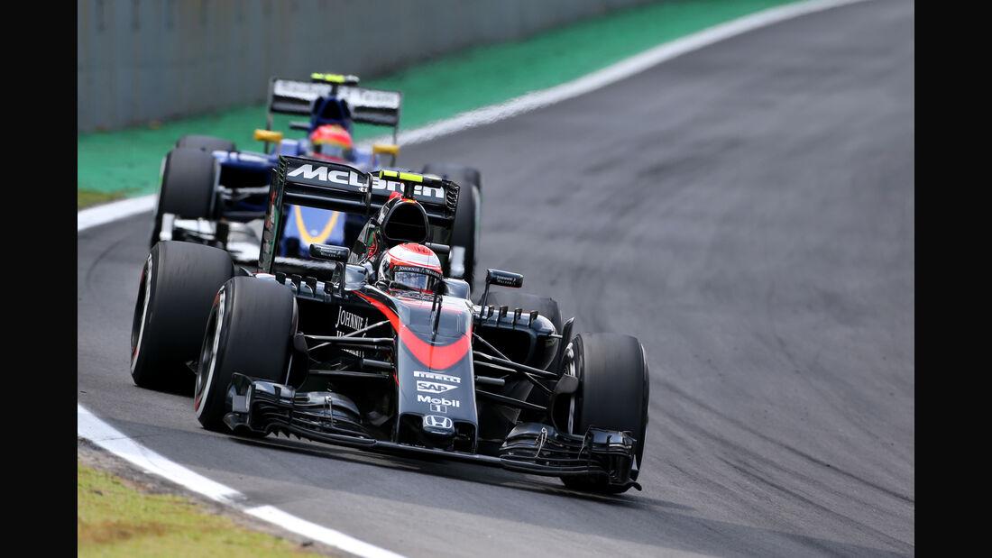 Jenson Button - McLaren - Formel 1 - GP Brasilien- 15. November 2015