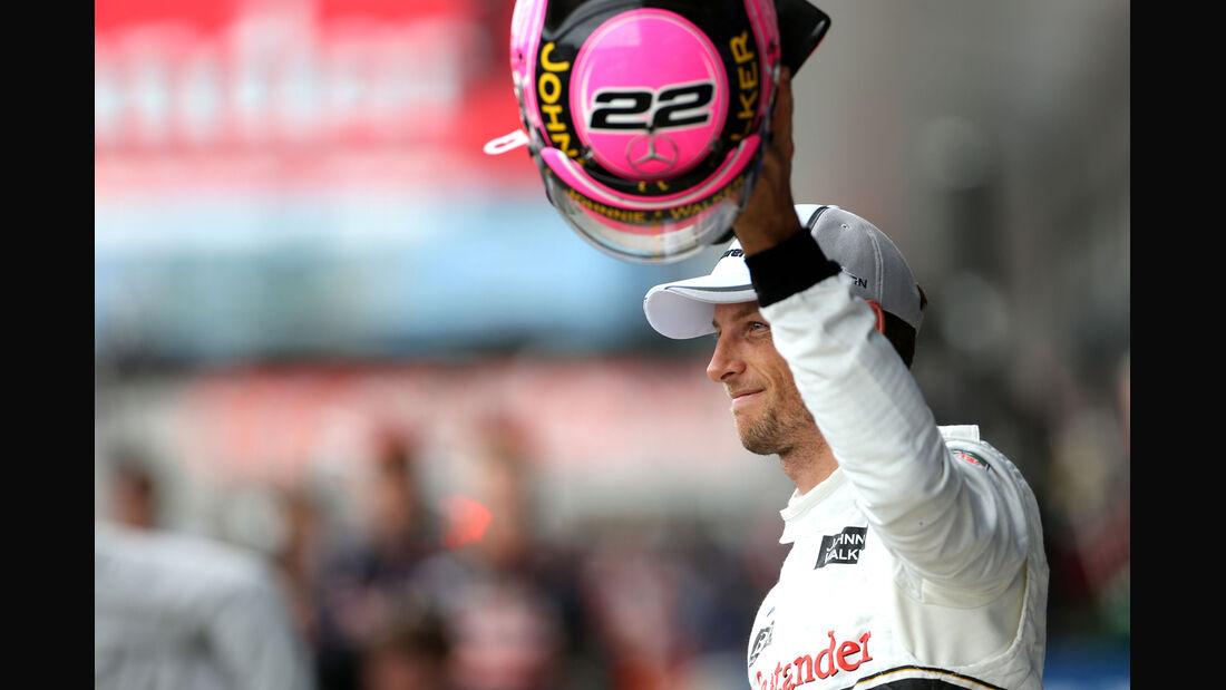 Jenson Button - McLaren - Formel 1 - GP England - Silverstone - 5. Juli 2014