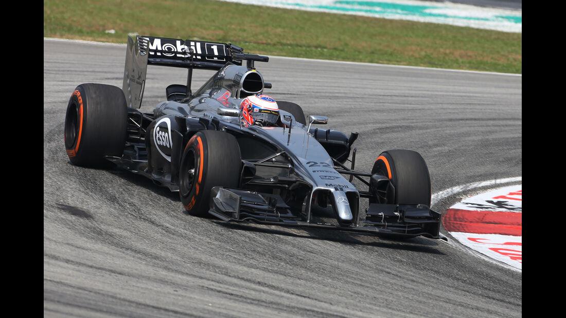 Jenson Button - McLaren - Formel 1 - GP Malaysia - Sepang - 28. März 2014