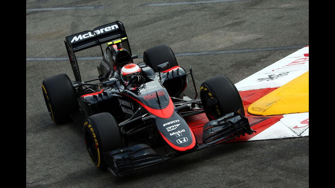 Jenson Button - McLaren - Formel 1 - GP Monaco - Samstag - 23. Mai 2015