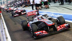 Jenson Button - McLaren - Formel 1 - GP Singapur - 21. September 2013