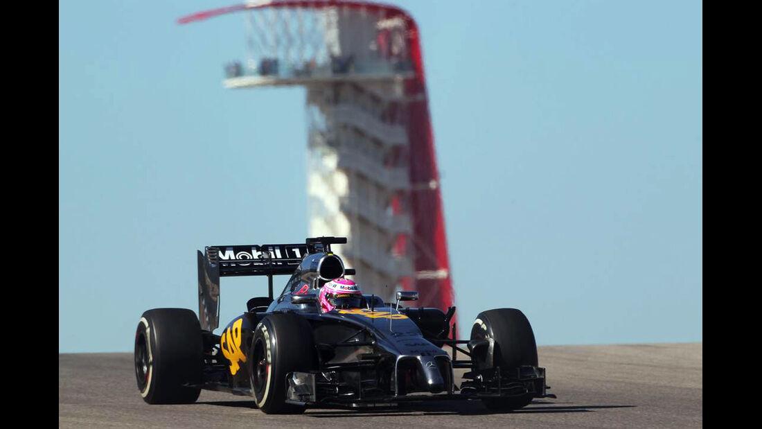Jenson Button - McLaren  - Formel 1 - GP USA - 31. Oktober 2014
