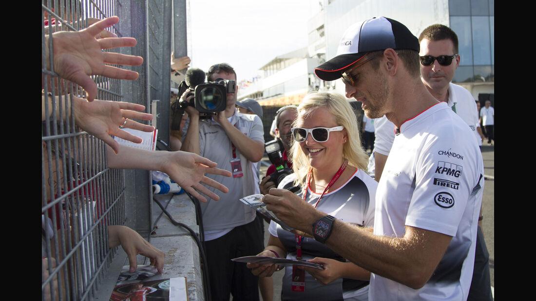 Jenson Button - McLaren - Formel 1 - GP Ungarn - 21. Juli 2016