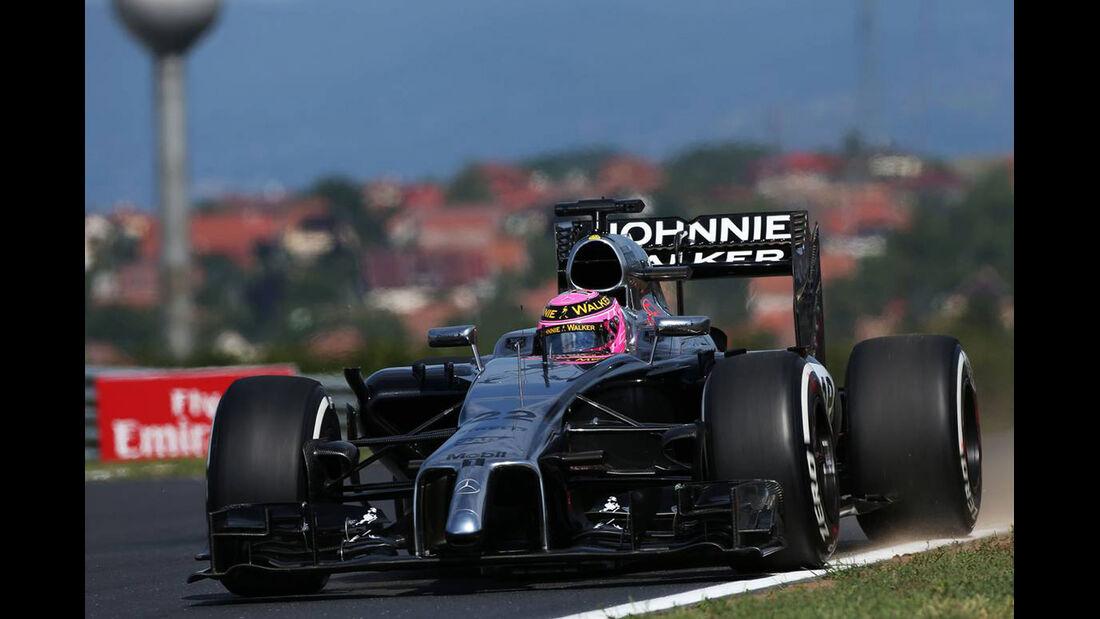 Jenson Button - McLaren - Formel 1 - GP Ungarn - 25. Juli 2014