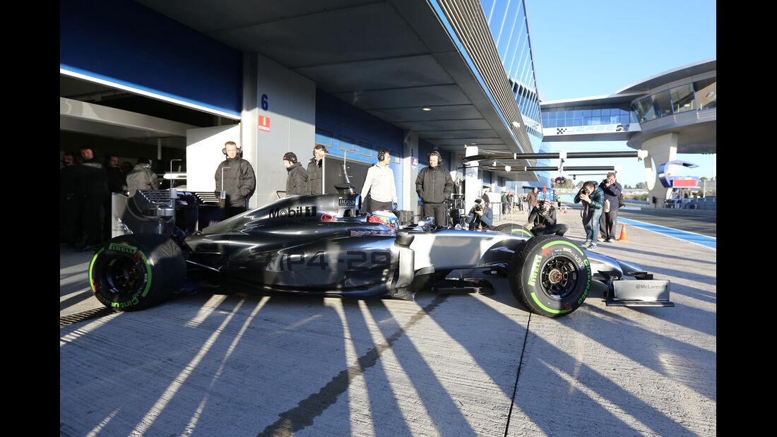 Jenson Button - McLaren - Formel 1 - Jerez - Test - 30. Januar 2014