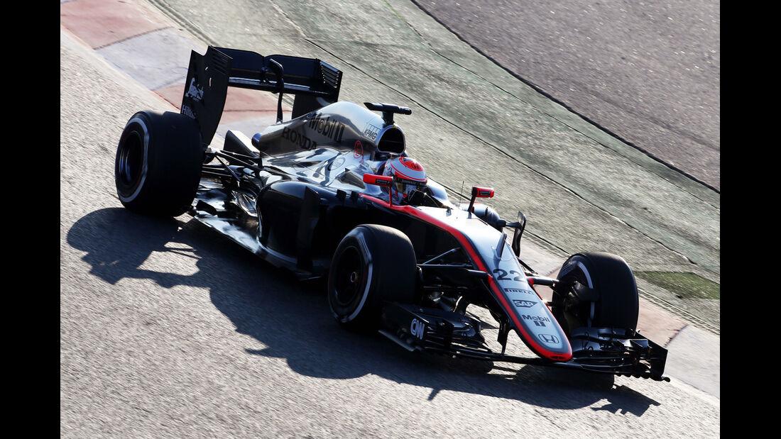 Jenson Button - McLaren - Formel 1-Test - Barcelona - 19. Februar 2015