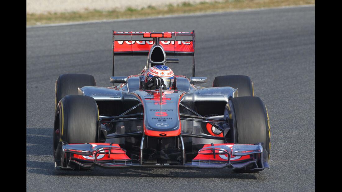 Jenson Button - McLaren - Formel 1-Test Barcelona - 3. März 2012